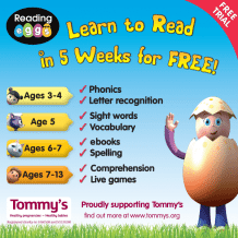 Teach your child to read in 5 weeks for free with Reading Eggs!