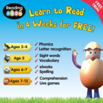 Teach your child to read in 4 weeks for FREE with Reading Eggs and Reading Eggspress