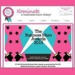 Business Mum Awards website
