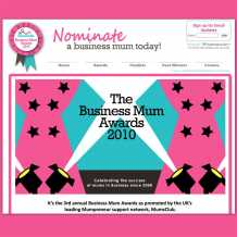 Business Mum Awards website