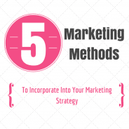 Five Marketing Methods To Incorporate Into Your Marketing Strategy